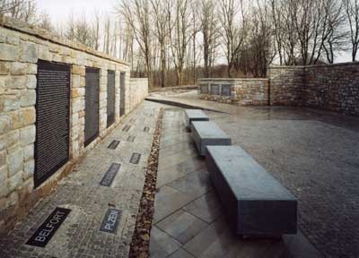 Photograph of the Little Camp Memorial at Buchenwald